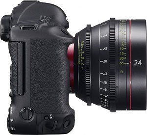 Canon's EOS-1D C digital SLR. Photo provided by Canon USA Inc. Click for a bigger picture!