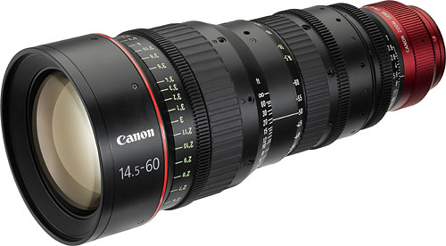 Cinema EOS zoom: the CN-E14.5-60mm T2.6 L S / SP. Image provided by Canon Inc. Click for a bigger picture!