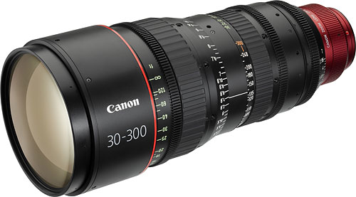 Cinema EOS zoom: the CN-E30-300mm T2.95-3.7 L S / SP. Image provided by Canon Inc. Click for a bigger picture!