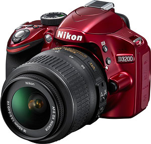 Nikon's D3200 digital SLR. Photo provided by Nikon. Click for a bigger picture!
