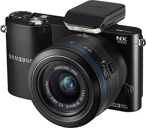 Samsung's NX1000 compact system camera. Photo provided by Samsung. Click for a bigger picture!