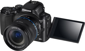 Samsung's NX20 compact system camera. Photo provided by Samsung. Click for a bigger picture!