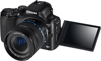Samsung's NX20 compact system camera. Photo provided by Samsung. Click for our Samsung NX20 preview!