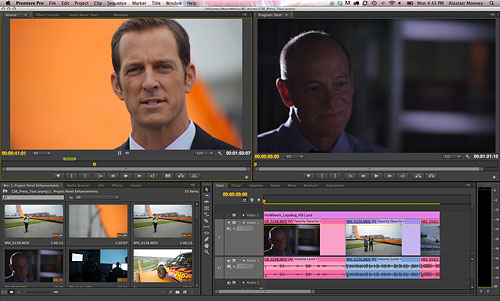 Adobe Premiere Pro CS6's new default layout. Screenshot provided by Adobe. Click for a bigger picture!