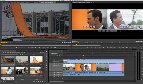 Trimming a video in Premiere Pro CS6. Screenshot provided by Adobe. Click for a bigger picture!