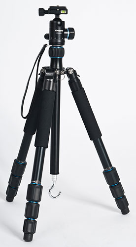 The Rollei Fotopro CT-5A tripod, shown with the standard legs attached. Photo provided by RCP - Technik GmbH & Co KG. Click for a bigger picture!