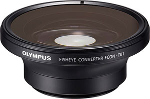 Olympus' FCON-T01 fisheye converter lens. Photo provided by Olympus. Click for a bigger picture!