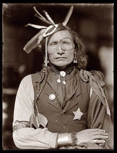 Iron White Man, a Sioux Indian in Buffalo Bill's Wild West Show. Photo by Gertrude Käsebier, via Ghost Cowboy. Click for a bigger picture!