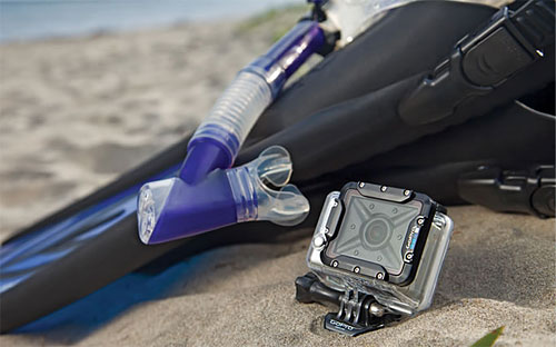 GoPro's new dive housing has a flat glass lens for sharper underwater imagery. Photo provided by Woodman Labs Inc. Click for a bigger picture!