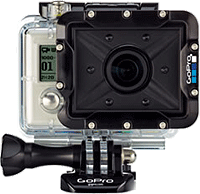 GoPro Hero-series camera in the AFLTH-001 Dive Housing. Photo courtesy of Woodman Labs, Inc.
