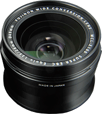 Fujifilm's WCL-X100 Wide Conversion Lens. Photo provided by Fujifilm. Click for our Fuji X100 review!