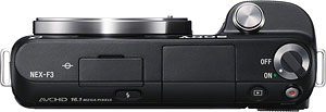 Sony's Alpha NEX-F3 compact system camera. Photo provided by Sony. Click for a bigger picture!