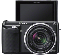 Sony's Alpha NEX-F3 compact system camera. Photo provided by Sony. Click for our Sony NEX-F3 preview!