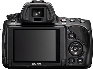 Sony's Alpha SLT-A37 Translucent Mirror camera. Photo provided by Sony. Click for a bigger picture!