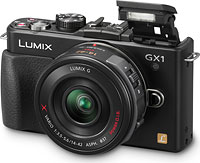 Panasonic's Lumix DMC-GX1 compact system camera. Photo provided by Panasonic Consumer Electronics Co.
