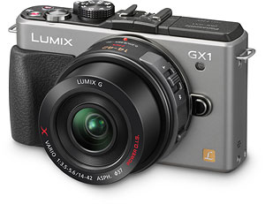 Panasonic's Lumix DMC-GX1 compact system camera. Photo provided by Panasonic Consumer Electronics Co. Click for a bigger picture!