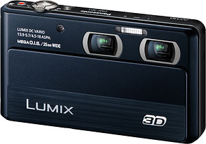 Panasonic's Lumix DMC-3D1 digital camera. Photo provided by Panasonic Consumer Electronics Co. Click for a bigger picture!