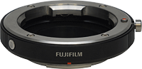 Fujifilm's M-mount adapter allows use of historic glass from Leica, Zeiss, and others on the X-Pro1 camera body. Photo provided by Fujifilm North America Corp. Click for our Fuji X-Pro1 review!
