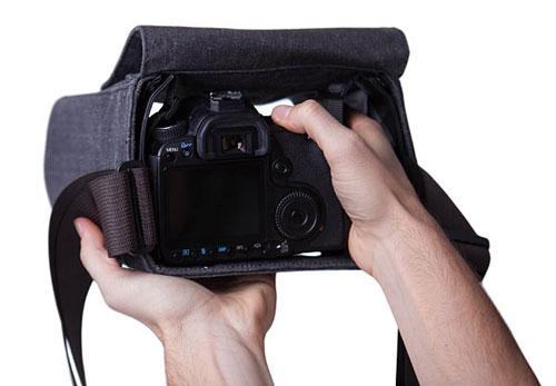 Cloak camera bag inhand