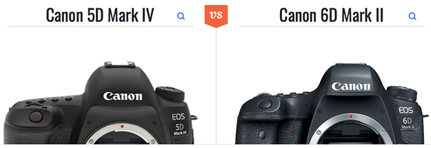 Canon vs. Canon? See our comparison pages to assist in your selection!