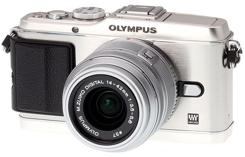Olympus Imaging will increase its emphasis on interchangeable-lens cameras, especially mirrorless models such as the popular Olympus E-P3. Photo copyright © 2011, Imaging Resource. All rights reserved. Click for a bigger picture!