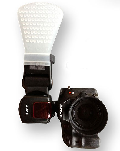 Gary Fong's Gamma Diffuser is designed specifically for Sony's Quick Shift Bounce-capable flash strobes. Photo provided by Gary Fong Inc. Click for a bigger picture!