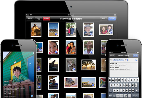 Apple's iOS6 will bring new Shared Photo Streams functionality that aims to simplify the chore of sharing your photos with friends and family, Apple-users or not. Image provided by Apple Inc. Click for a bigger picture!
