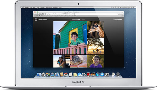 Owners of non-Apple hardware and older Apple devices will view your photos on the web. Image provided by Apple Inc. Click for a bigger picture!