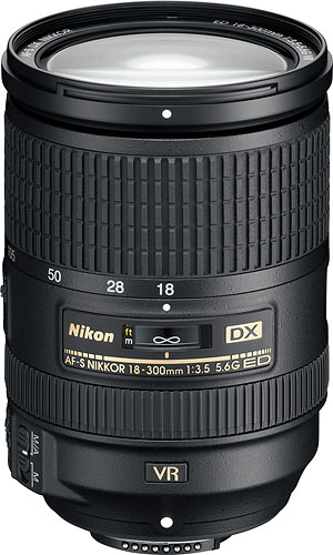 The AF-S DX NIKKOR 18-300mm f/3.5-5.6G ED VR lens. Photo provided by Nikon. Click for a bigger picture!