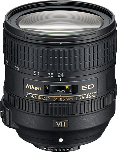 The AF-S NIKKOR 24-85mm f/3.5-4.5G ED VR lens. Photo provided by Nikon. Click for a bigger picture!