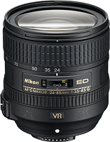 The AF-S NIKKOR 24-85mm f/3.5-4.5G ED VR lens. Photo provided by Nikon.