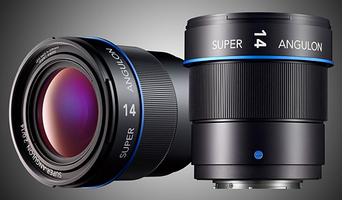 The Schneider-Kreuznach Super-Angulon 2/14mm lens is currently in development for the popular Micro Four Thirds mount. Rendering provided by Jos. Schneider Optische Werke GmbH. Click for a bigger picture!