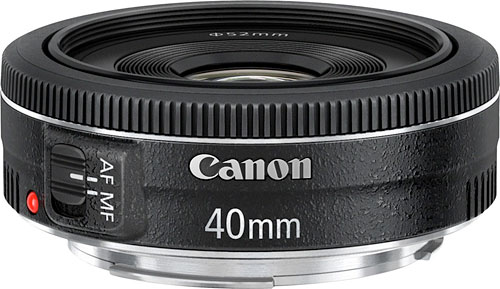 The Canon EF 40mm f/2.8 STM is the company's first EF-mount pancake prime. Photo provided by Canon.