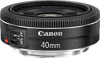 Canon's EF 40mm f/2.8 STM pancake prime lens. Photo provided by Canon.