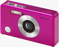 The Ricoh PX digital camera, shown with bundled silicone jacket installed. Photo provided by Ricoh Co. Ltd.