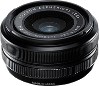 The Fujinon XF18mm F2 R lens. Photo provided by Fujifilm.