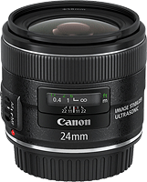 Canon's EF 24mm f/2.8 IS USM lens. Photo provided by Canon. Click for our preview on SLRgear.com!