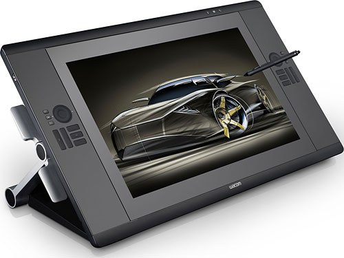 Externally, the Cintiq 24HD touch looks the same as the 24HD, shown here. Photo provided by Wacom. Click for a bigger picture!