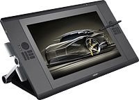 Wacom's Cintiq 24HD display is essentially identical to the 24HD touch, externally. Photo provided by Wacom.