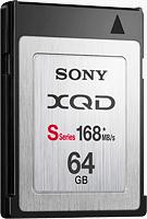 Sony 64GB S-series XQD card. Photo provided by Sony.