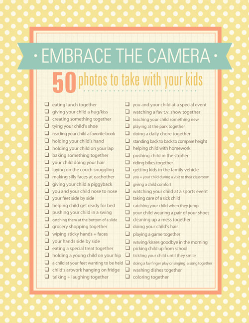 Child photo checklist