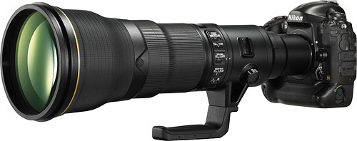 Nikon's prototype 800mm lens. Photo provided by Nikon. Click for a bigger picture!