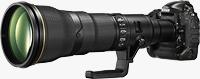 Nikon's prototype 800mm lens. Photo provided by Nikon.