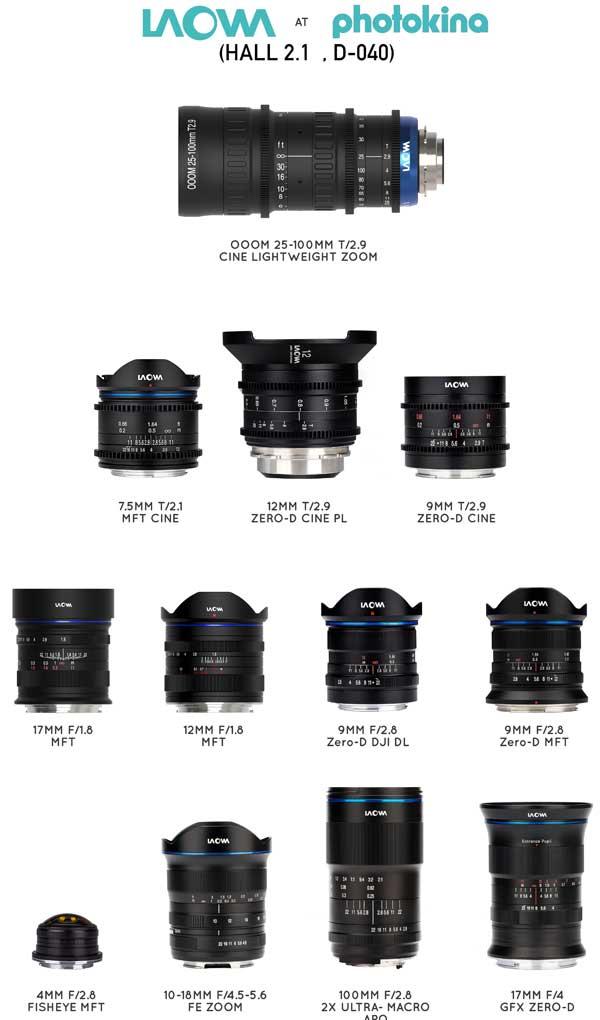 Venus Optics announces eight new Laowa lenses ahead of