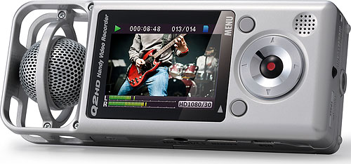The Zoom Q2HD is both an audio recorder and a basic flash camcorder in a single device. Photo provided by Samson Technologies. Click for a bigger picture!