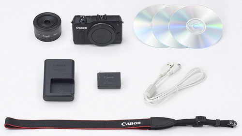 Canon's EOS M camera kit. Photo provided by Canon. Click for a bigger picture!