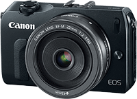 Canon's EOS-M compact system camera. Photo provided by Canon. Click for our hands-on Canon EOS M preview!