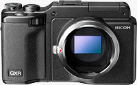 Ricoh's GXR Mount A12, shown here mounted on the GXR body. Photo provided by Ricoh Co Ltd.