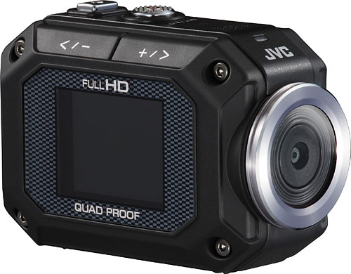 Like the GoPro, the JVC GC-XA1 Adixxion action camera has an f/2.8 lens. Photo provided by JVC. Click for a bigger picture!