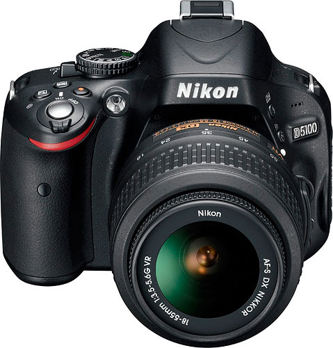 Nikon's D5100 digital SLR. Photo provided by Nikon Corp. Click for a bigger picture!